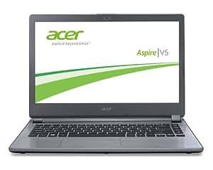 Acer Aspire V5-473-29554G50aii 35,6 cm (14 Zoll) Notebook (Intel Celeron 2955U, 1,4GHz, 4GB RAM, 500GB HDD, Intel HD, Win 8) aluminium/silber