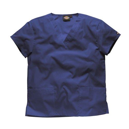 Marine Kostüm Krankenschwester - Dickies WORKWEAR Schlupfhemd Medizin 2 Taschen mit V-Ausschnitt S Marine