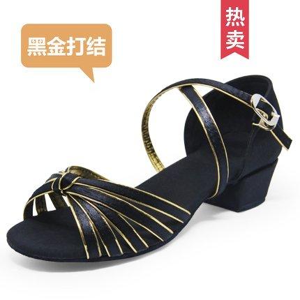 Wuyulunbi@ ballo latino sala da ballo scarpe da ballo le scarpe da ballo 801 oro nero