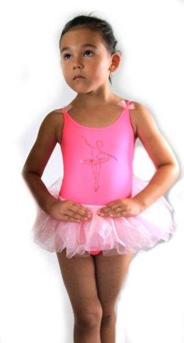 Ballettanzug Ballettkleid Ballett Trikot mit angenähtem Tutu Rock LOOK Nr. 405