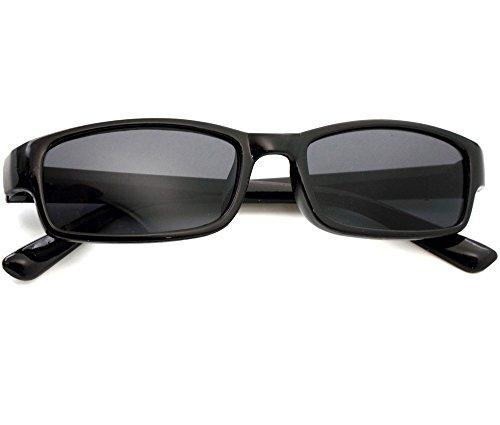 Damen Herren Lesebrille Sonnenbrille +1.5 +2.0 +3.0 +4.0 Slim Sun Readers Perfekt für den Urlaub Retro Vintage Brille MFAZ Morefaz Ltd (+1.5 Sun, Black)