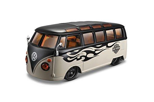 maisto-32192bk-volkswagen-combi-t1-van-harley-davidson-chelle-1-24-noir-beige