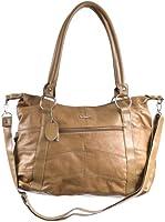Large Leather Shoulder Bag Handbag with detachable shoulder strap