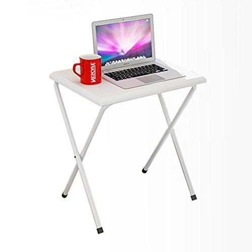 LiuJianQin ZDZ Klapptisch/Small Computer Schreibtisch/Klappbuch Schreibtisch/Outdoor Portable Esstisch/Multifunktionstisch (Farbe : Weiß) -