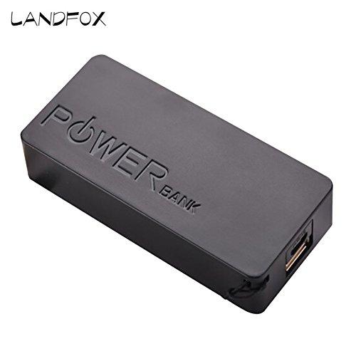 Cyond Seamount Tragbares Ladegerät 5600mAh 2X18650 Externe Backup USB Power Bank Ladegerät Fall DIY Box für iPhone Sumsang (Schwarz)