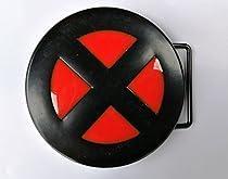 X-Men Logo Couleur Noir Rouge en métal Boucle de ceinture