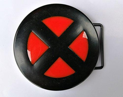 X-Men Logo Couleur Noir Rouge en métal Boucle de ceinture, Vêtements