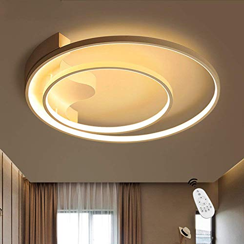 Eisen Bad Lampe (LED Deckenleuchte I CBJKTX Deckenlampe 51cm 52W dimmbar mit Fernbedienung Wohnzimmerlampe Eisen Kronleuchte Kinderzimmer Lampe Esszimmerlampe Schlafzimmerlampe Badezimmerlampe Flurlampe (C-w-Φ51cm))