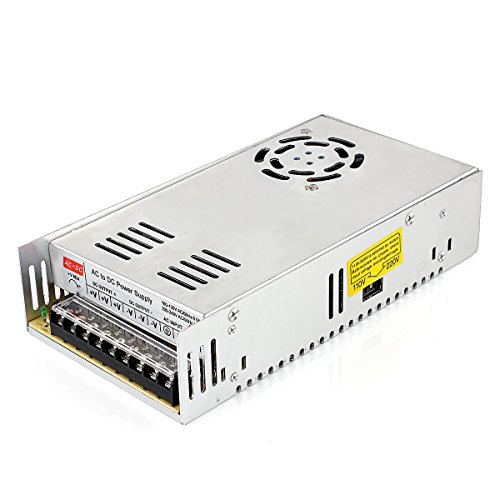 Uhomely Voltage Transformer AC 110V/220V to DC 12V 30A 360W Regulated Switching Power Supply Universal Electric CCTV (Transformer Power)