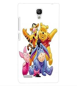 ColourCraft Cartoons Design Back Case Cover for XIAOMI REDMI NOTE 4G
