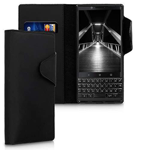 kalibri BlackBerry KEYtwo (Key2) Hülle - Leder Handyhülle für BlackBerry KEYtwo (Key2) - Handy Wallet Case Cover