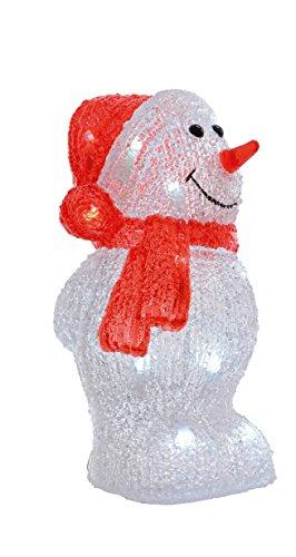 """LED Beleuchtung""""Schneemann"""" Weihnachtsbeleuchtung außen Weihnachtsfigur Garten Beleuchtung Weihnachten (Schneemann einfach)"""