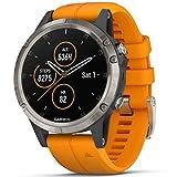 Garmin Unisex- Erwachsene Fēnix 5 Plus Sportuhr, orange/gris, TU EU