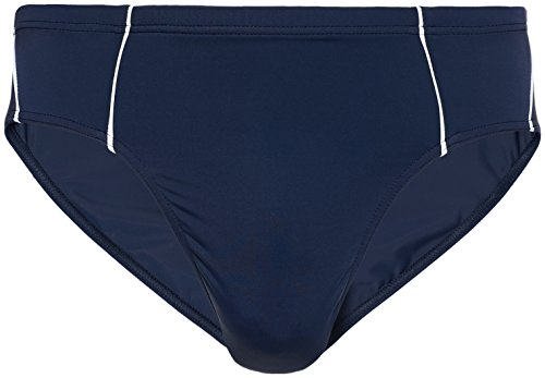 FIND Badehose Herren Kontrastnähten und hoher Beinausschnitt Blau (Navy/White)