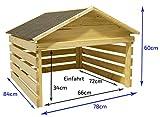 Outdoor Holz-Garage für selbstfahrende Rasenmäher Mähroboter Garage Wetterschutz