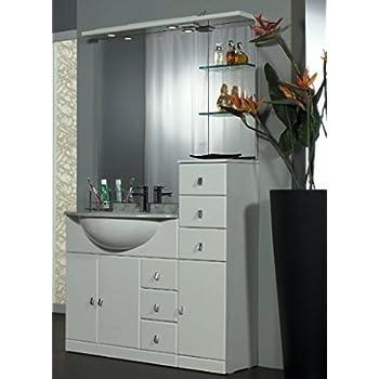 Mobile da bagno classico in legno con lavabo arte povera casa e cucina - Mobile bagno classico bianco ...