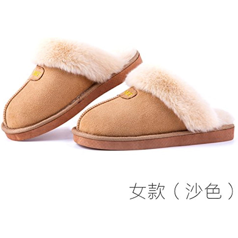 LaxBa Femmes Hommes chauds d'hiver Chaussons peluche antiglisse intérieur Slipper... Cotton-Padded Femme Chaussures Slipper... intérieur - B077Z5PPYM - 782016