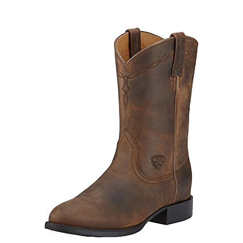 Ariat Heritage Roper Damen Westernstiefel, Used-Look, Braun, Adults 6