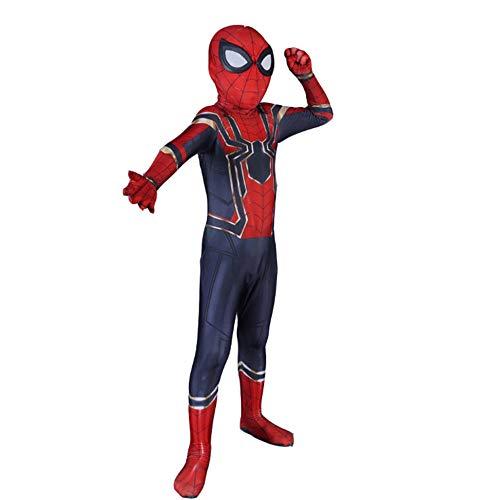 Spiderman Costume for Adult Kids Superhelden Kostüme Kinder Erwachsene,Film Cosplay Overall Kostüm,Karneval Kostüm,Child-XS