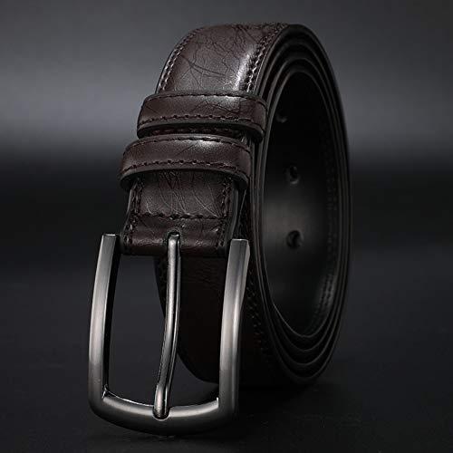 YDLYD Gürtel Männer Gürtel Echtes Leder Kleid Lässig Dornschließe Business Gürtel Für Mann Männlich Gürtel Gurt