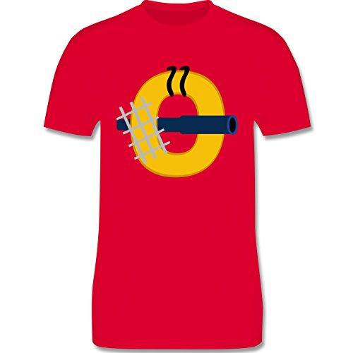 Anfangsbuchstaben - O Schifffahrt - Herren Premium T-Shirt Rot