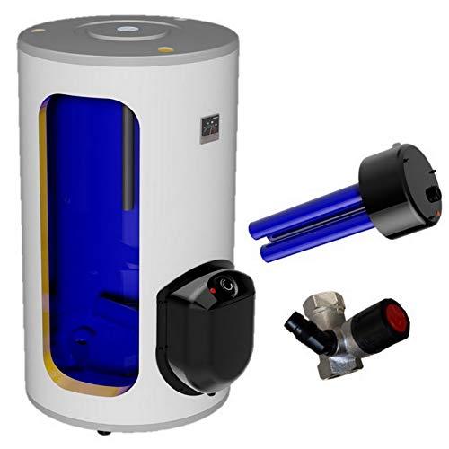 200 Liter elektrischer Warmwasserspeicher, Standspeicher mit integrierter Keramikheizpatrone 2,2 kW Leistung