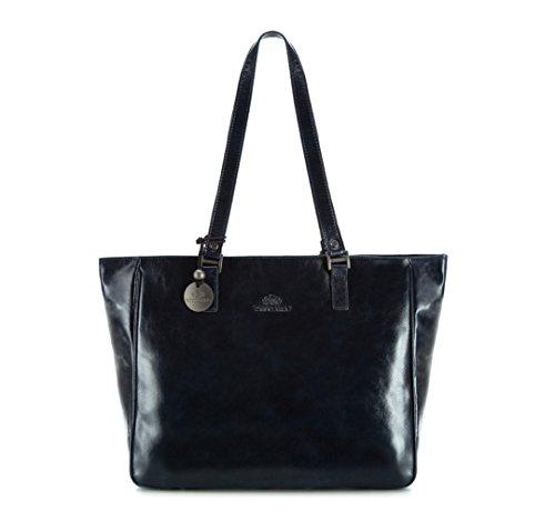 WITTCHEN-Henkeltaschen-Damentasche-7x28x40-cm-Marineblau-Leder-Handmade-32-4-029-7