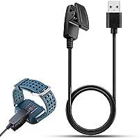 Garmin enfoque S20GPS Golf Reloj de Batería Clip, feskio Replacement USB Data Sync cargador de base de carga y sincronización para Cable de carga para Garmin enfoque S20GPS reloj de Golf, color negro