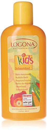 LOGONA Naturkosmetik Schaumbad, Purer Badespaß mit natürlicher Pflege für junge Haut, Reinigt die Haut ganz sanft ohne sie auszutrocknen, Vegan, 500ml -