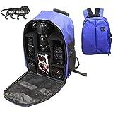 Brain Freezer DSLR/SLR Camera Lens Shoulder Backpack Case Compatible with Canon Nikon Sigma Olympus Camera Navy Blue