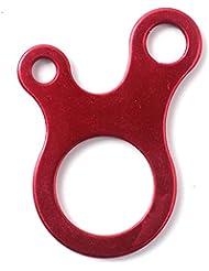 VANKER 3 agujeros propósito multi-herramienta rojo EDC de la supervivencia de la hebilla de acero al aire libre Knotting