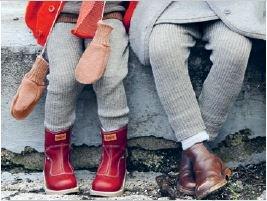 Strick Leggings aus 100% Merino-Schurwolle kbT für Baby und Kind Blau
