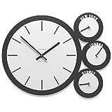 Calleadesign - Orologio da ufficio London con fusi orari - bianco