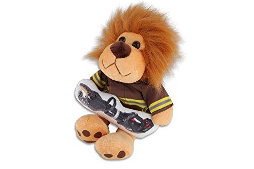 Feuerwehr Plüschfigur Leo - Plüsch-Löwe mit Schutzkleidung und Rettungsgerät (Weber Rescue) - 30 cm