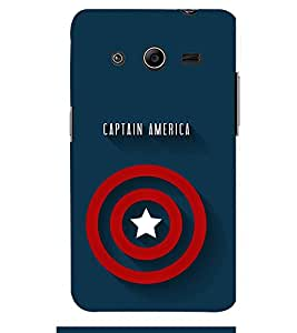 TOUCHNER (TN) Captain America Back Case Cover for Samsung Galaxy Core 2 G355H