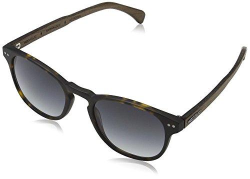 Wood Fellas Unisex Haidhausen Sonnenbrille, Mehrfarbig (Havanna/Grey 5111), (Herstellergröße: one Size)
