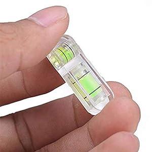 dianqin14 Mini Herramienta de Ajuste de medición de acrílico de Nivel de Burbuja de Tipo T de Burbuja Verde estándar Juego de Instrumentos