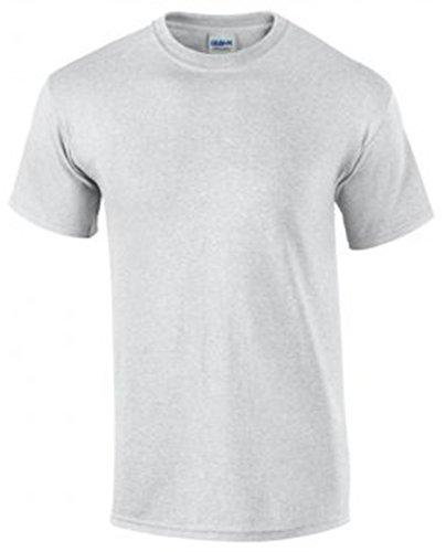 Gildan Herren Ultra Cotton T-Shirt Kurzärmlig Mehrfarbig - Ash