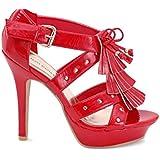 EyeCatchShoes - Ladies Destiny Patent Platform Shoes