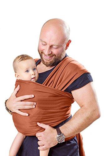 Shabany - Babytragetuch - 100% Bio Baumwolle - Tragetuch für Neugeborene ab Geburt - Kein Elastan - Hochwertige Jaquard Webung - Bis 15-KG + Bindeanleitung Jaquard-wrap