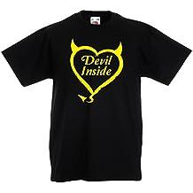 Camisas para Niños Devil Inside Disfraces de Diablo Ropa Divertida, Regalos para Jugadores, Eslogan