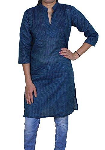 Delle donne tunica top con scollo a V indiano T casuali manica corta t-shirt camicetta -s