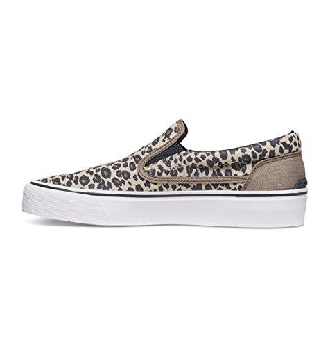 DC Shoes Trase J Shoe, Sneakers basses femme Orange - Leopard Print