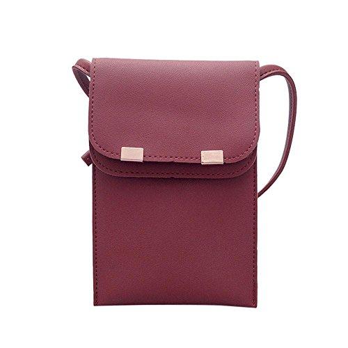 S&H-NEEDRA Damen Frauen Fashion Solid Cover Umhängetasche Messenger Bag Schultertasche