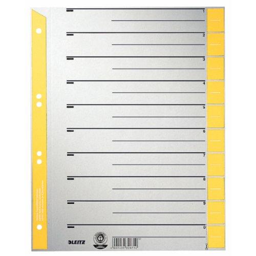 Preisvergleich Produktbild Leitz 16520015 Trennblatt, A4, Karton, farbig bedruckt, gelb