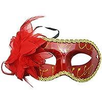 Generic da donna maschera piuma Narcisi Fiori Decor colore opzionale per ballo - Piuma Maschera Di Halloween Costume