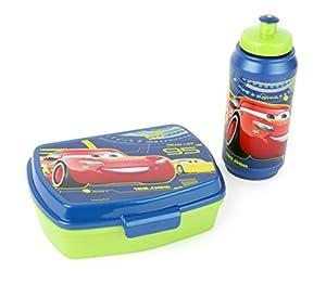 Joy Toy 782673-Cars Set de 3Sport Botella y Fiambrera en Paquete de Regalo, 21x 7x 17cm