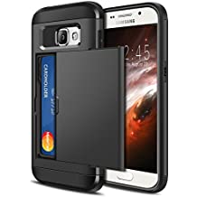 Coque Galaxy A3 2016,Coolden® housses de protection en armure Housse de protection à double couche antidérapante Slim Fit Card Slot Holder pour Samsung Galaxy A3 2016 Noir