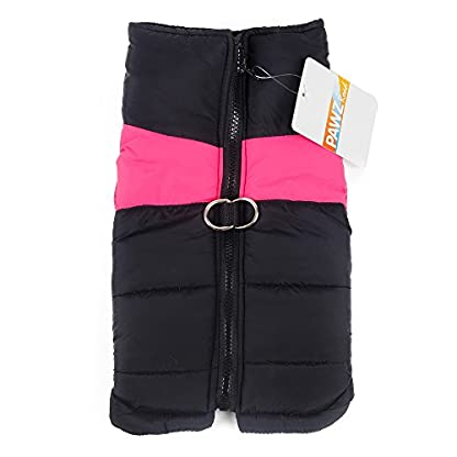 PAWZ Road Pet Clothes For Small Medium and Large Dogs Winter Warm Vest Jacket Easy On/Off Pink 5L 6
