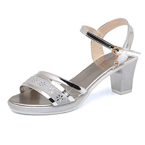 Zapatos de Fiesta Mujer KanLin1986 Sandalias Doradas Zapatos Mujer Tacon Zapatos de Boca de Pescado...